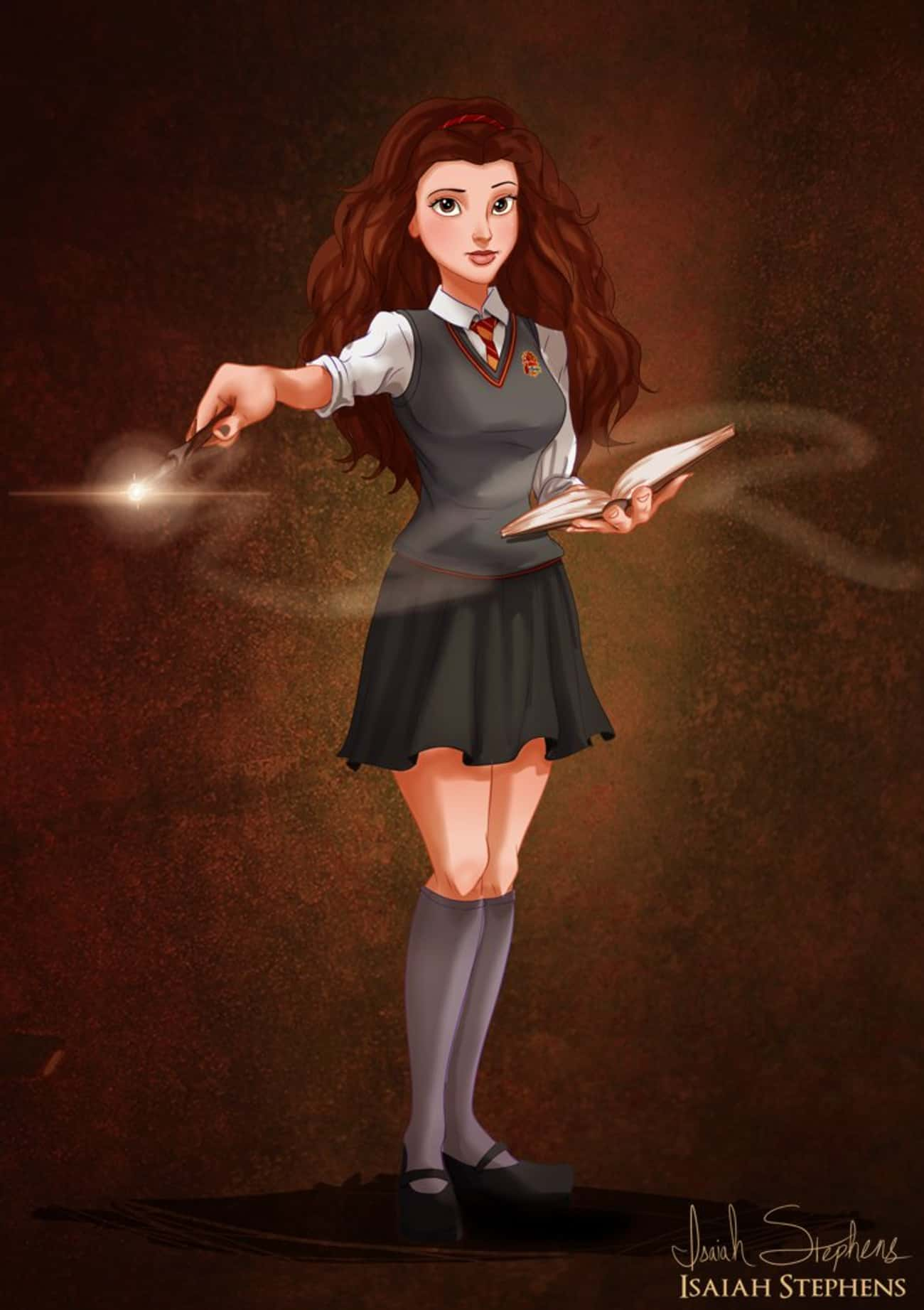 Literary Worlds Collide When Belle Goes As Hermione Granger For Halloween