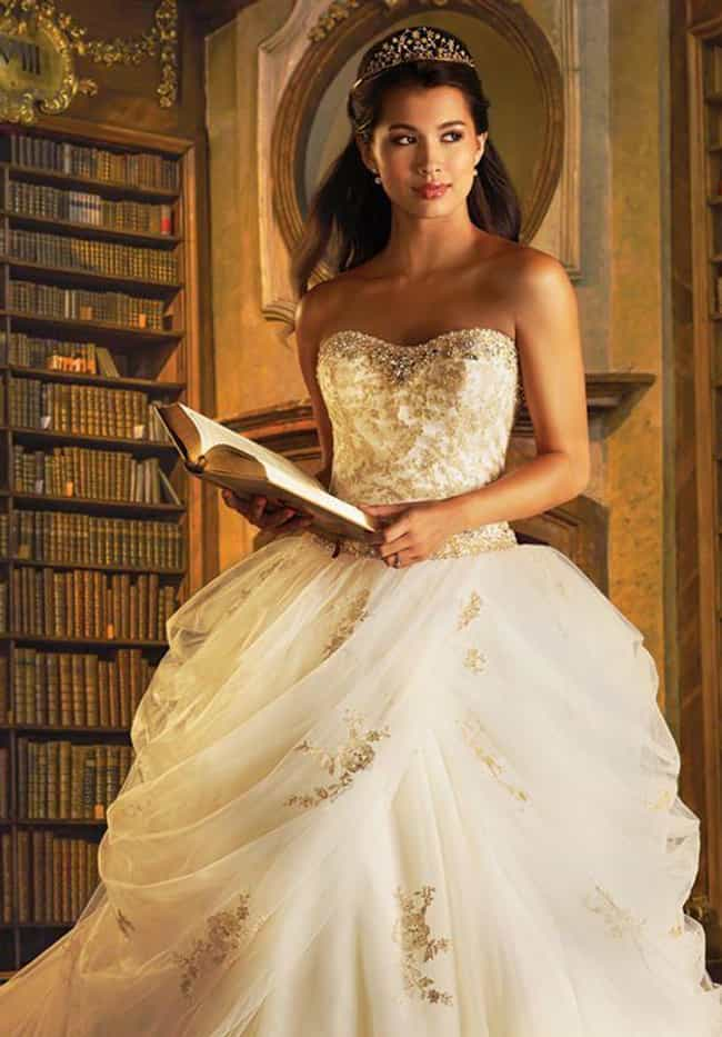 Belle is listed (or ranked) 1 on the list 25 Gorgeous Wedding Dresses Inspired By Disney