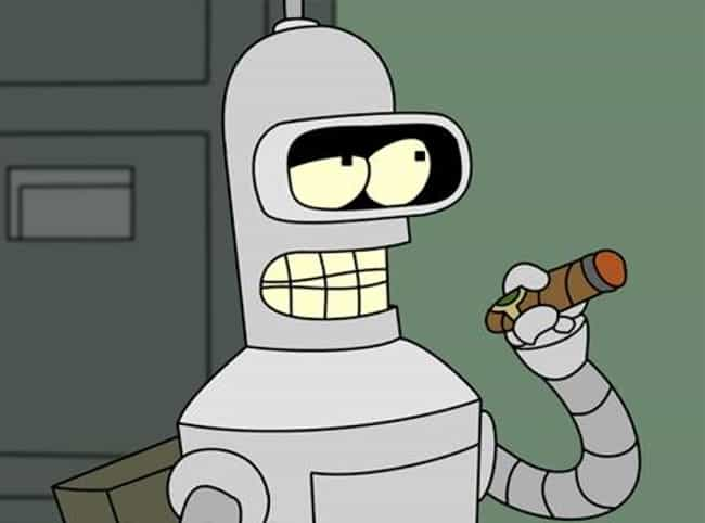 Bender is listed (or ranked) 1 on the list Cute Characters Who Say the Most Messed Up Things