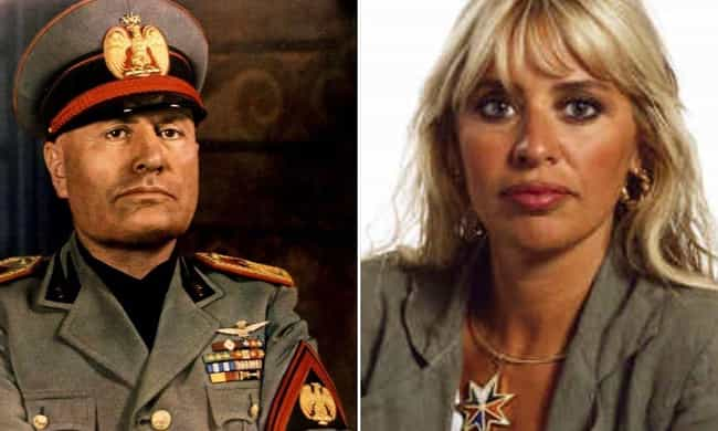 Benito Mussolini is listed (or ranked) 2 on the list Modern Descendants Of Historical Figures Who Work In The Same Field