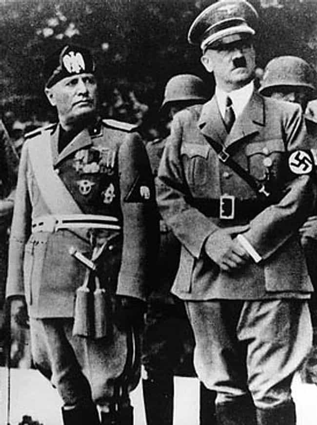 Benito Mussolini is listed (or ranked) 23 on the list 26 Intimidating World Leaders Who You Never Realized Were Super Short