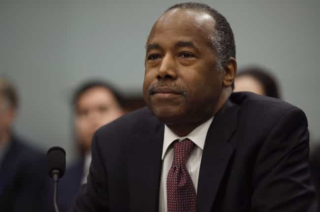 Ben Carson is listed (or ranked) 3 on the list Every Trump Cabinet Member's Stance On Science