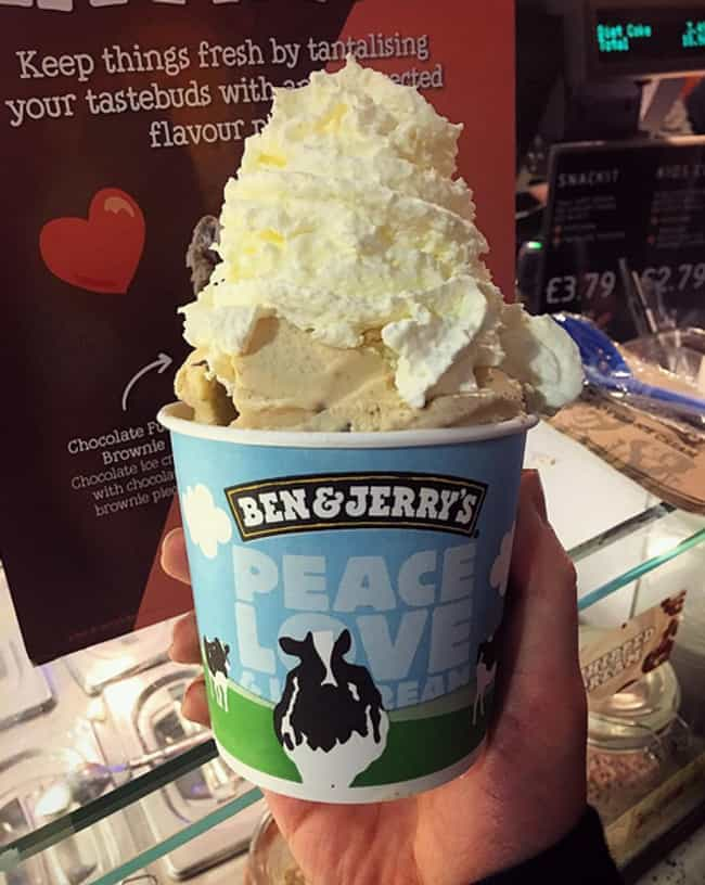 Ben & Jerry's is listed (or ranked) 2 on the list 40 Epic Things You Can Do For Free On Your Birthday