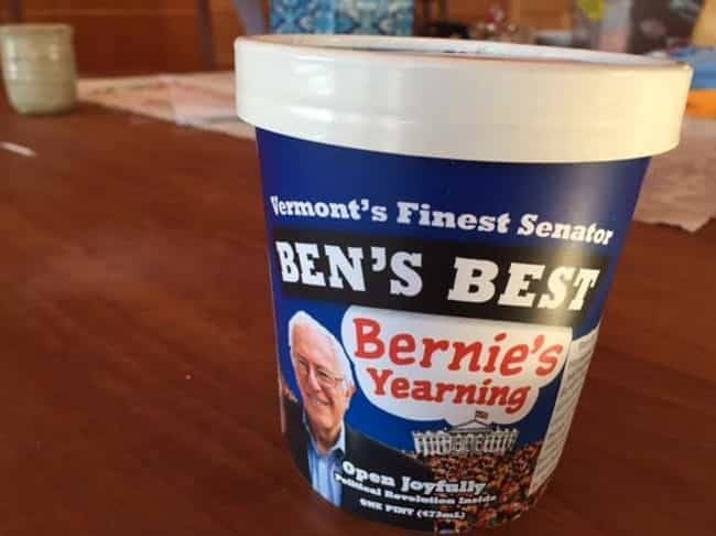 Bernie Sanders is listed (or ranked) 1 on the list 16 Celebrities Who Have Their Own Ice Cream Flavor