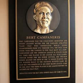 Bert Campaneris is listed (or ranked) 25 on the list List of Famous Baseball Shortstops