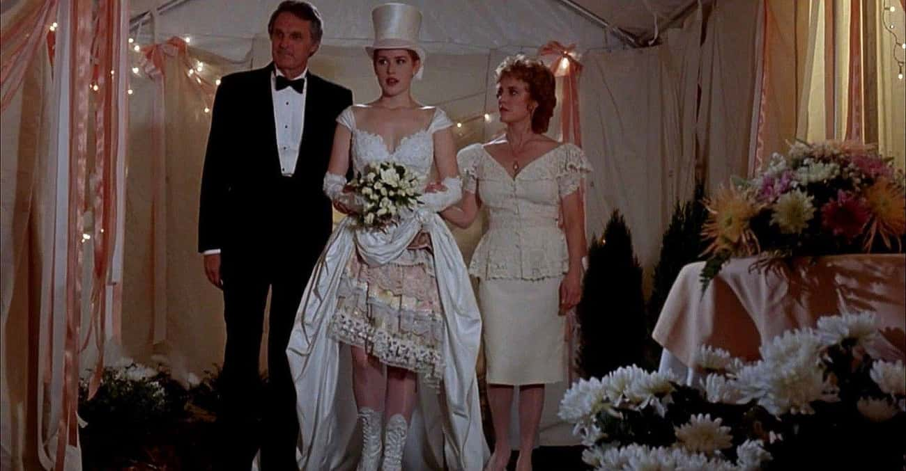 Betsy Hopper's Dress In 'Betsy is listed (or ranked) 2 on the list The Worst Wedding Dresses In Romantic Comedy History