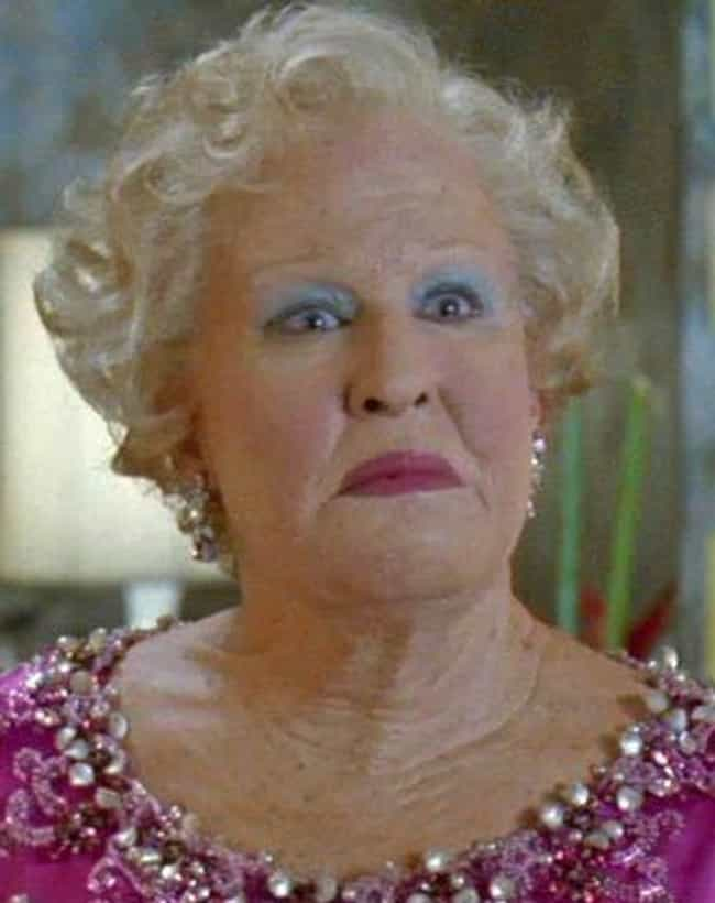 Bette Midler is listed (or ranked) 2 on the list The Worst Old Age Makeup Fails in Film History