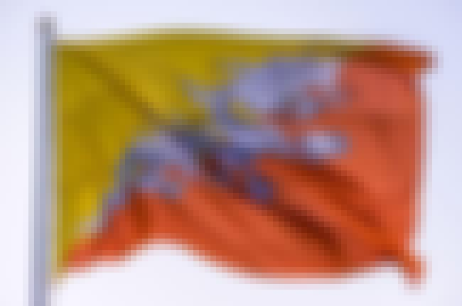 Bhutan is listed (or ranked) 4 on the list The Coolest National Flags