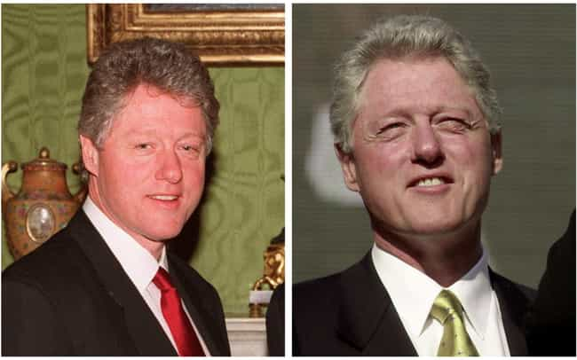 Bill Clinton is listed (or ranked) 5 on the list How 14 Presidents Looked At The Start And The End Of Their Presidencies