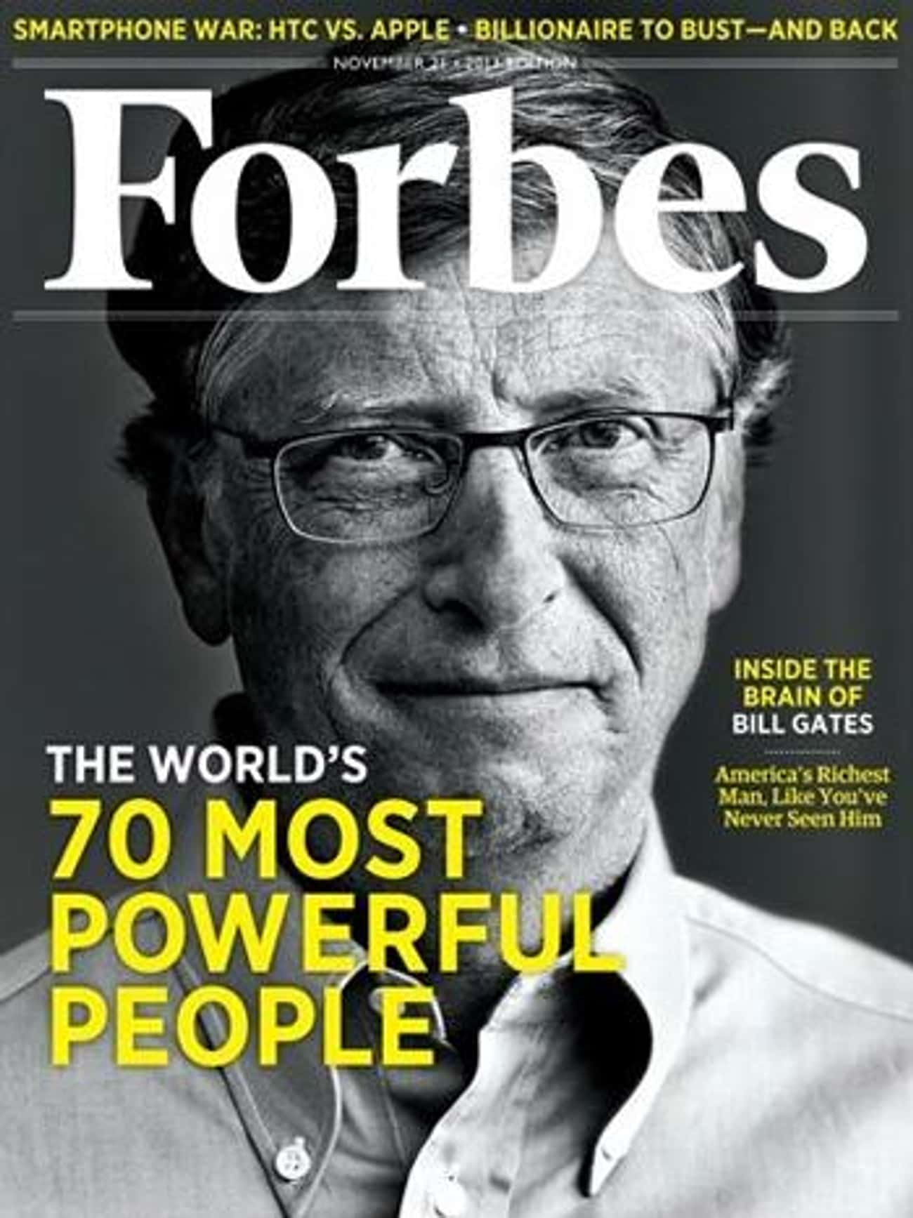 Bill Gates is listed (or ranked) 1 on the list The Best Forbes Covers