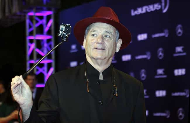 Bill Murray is listed (or ranked) 4 on the list Celebrities Caught Using Selfie Sticks