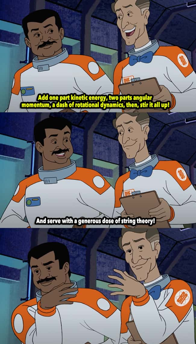 Bill Nye and Neil deGrasse in Scooby-Doo And Guess Who