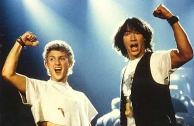 Bill & Ted's Excellent Adventu... is listed (or ranked) 3 on the list Surprisingly Plausible Fan Theories About Super Famous Comedy Movies