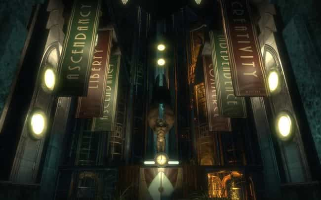 BioShock is listed (or ranked) 1 on the list 15 Of Your Favorite Video Games You Didn't Know Were Inspired By Books