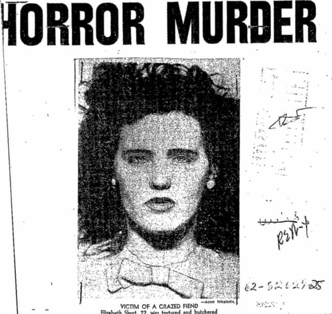 Black Dahlia is listed (or ranked) 1 on the list Here Are The 12 Most Brutal Case Files That Have Been Released By The FBI In 'The Vault'
