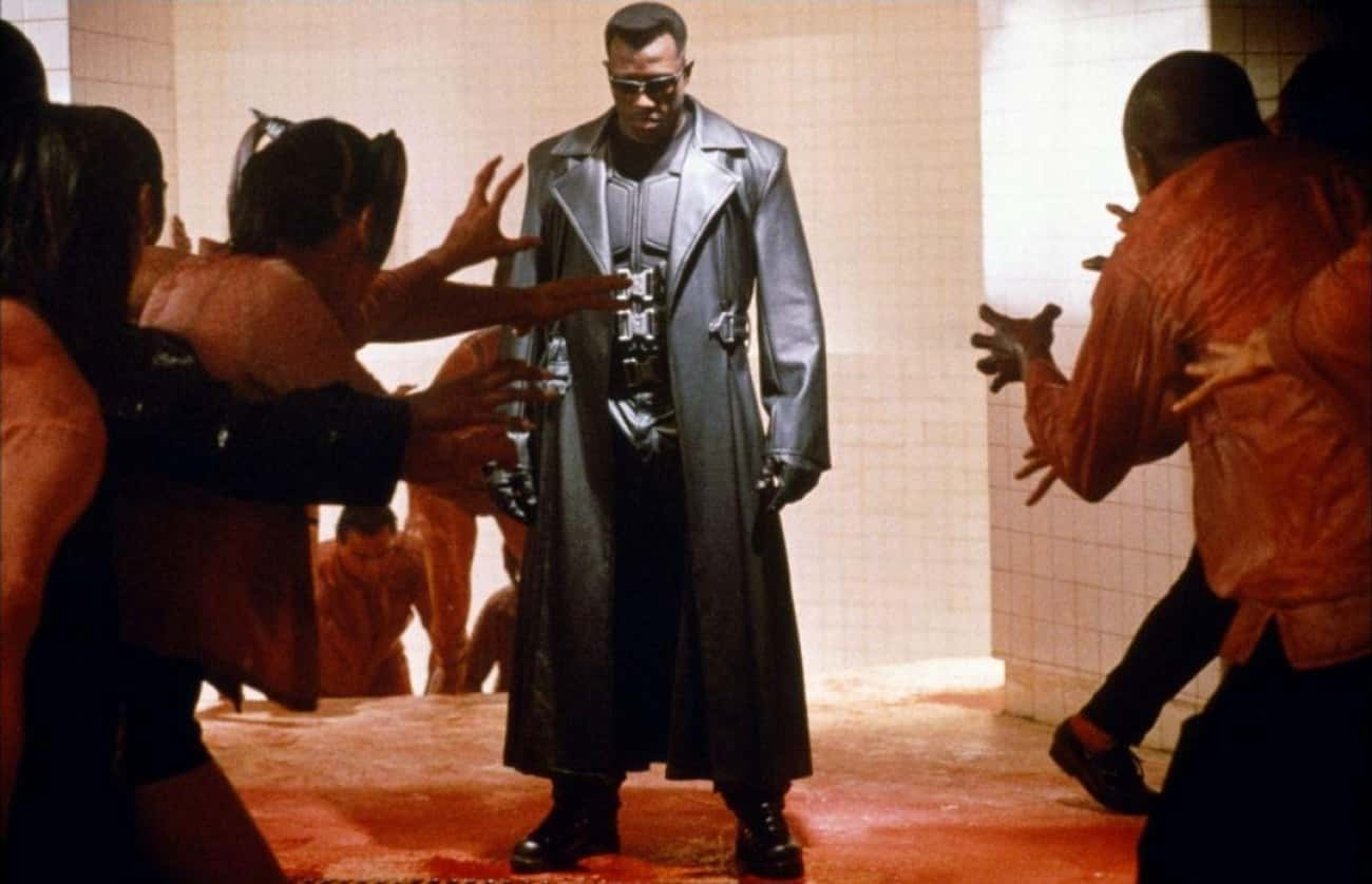 Blade Vs. Vampires In 'Blade' is listed (or ranked) 4 on the list 14 Movie Fight Scenes That Would Have Ended Earlier If The Bad Guys Didn't Wait Their Turn To Fight