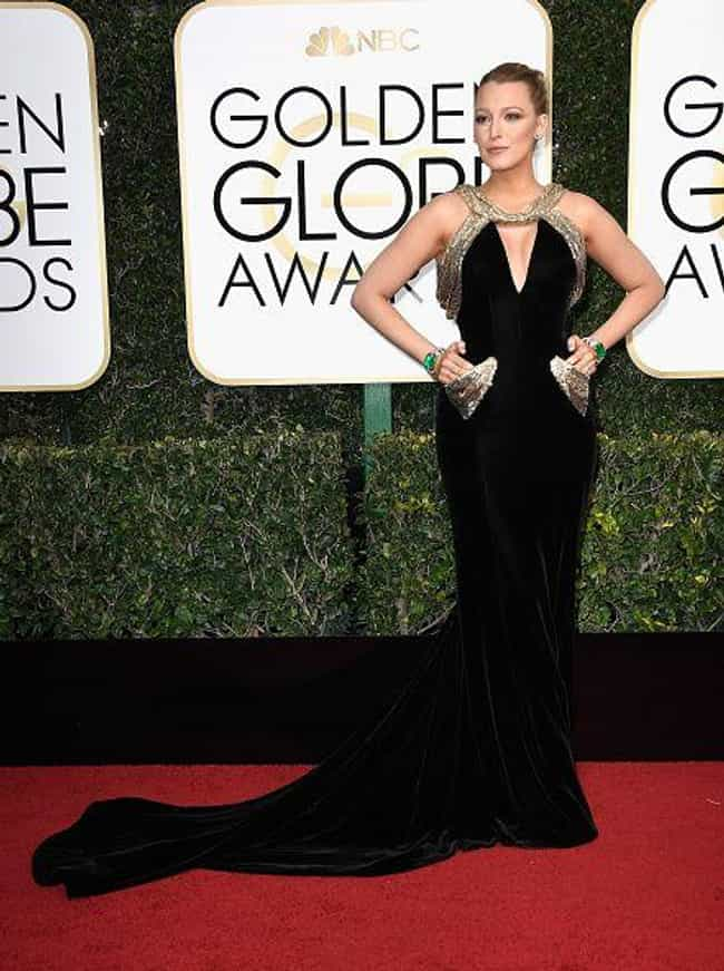 Blake Lively is listed (or ranked) 2 on the list Hottest Dresses on the Red Carpet at the 2017 Golden Globes