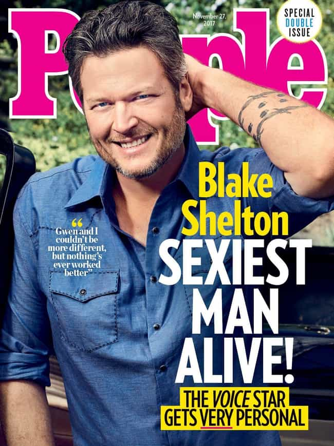 Blake Shelton is listed (or ranked) 2 on the list Every Cover of People's Sexiest Man Alive Issue, Ever
