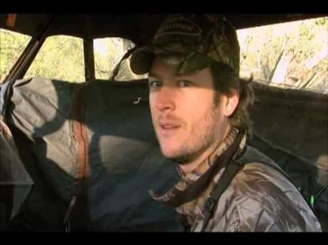 Blake Shelton is listed (or ranked) 1 on the list Celebrities Who Hunt