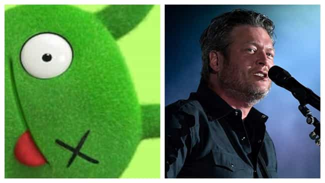 Blake Shelton is listed (or ranked) 3 on the list Here's Where You've Heard All The Voices In 'UglyDolls' Before