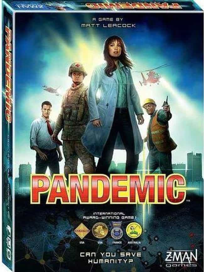 Pandemic is listed (or ranked) 1 on the list The Most Popular 2 Player Board Games