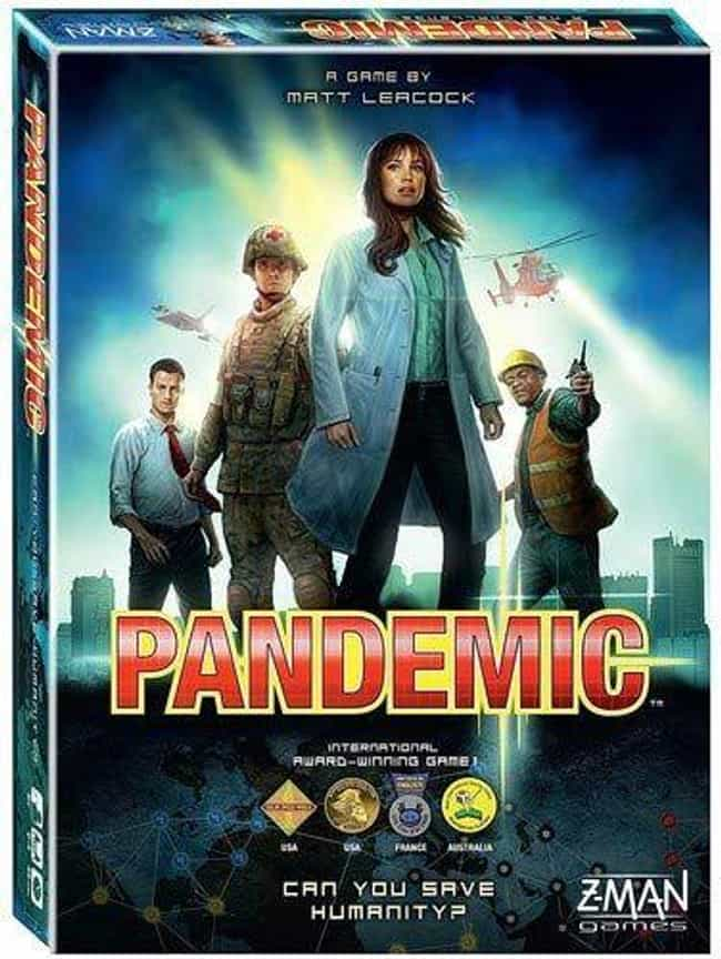 Pandemic is listed (or ranked) 1 on the list The Most Popular Cooperative Board Games