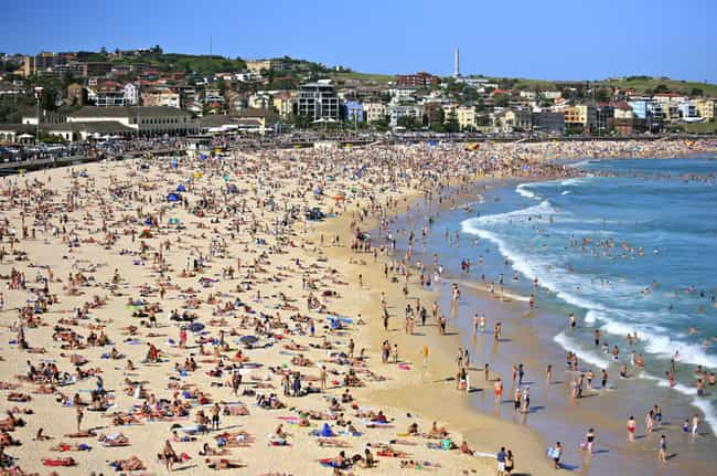 Bondi Beach is listed (or ranked) 4 on the list Tourist Destinations People Say You Have To Go To That Are Actually Terrible