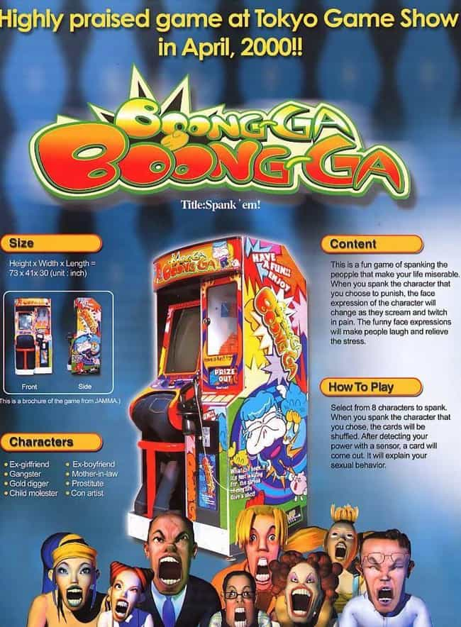 Boong-Ga Boong-Ga is listed (or ranked) 1 on the list The Craziest Arcade Games You Won't Believe Were Actually Made