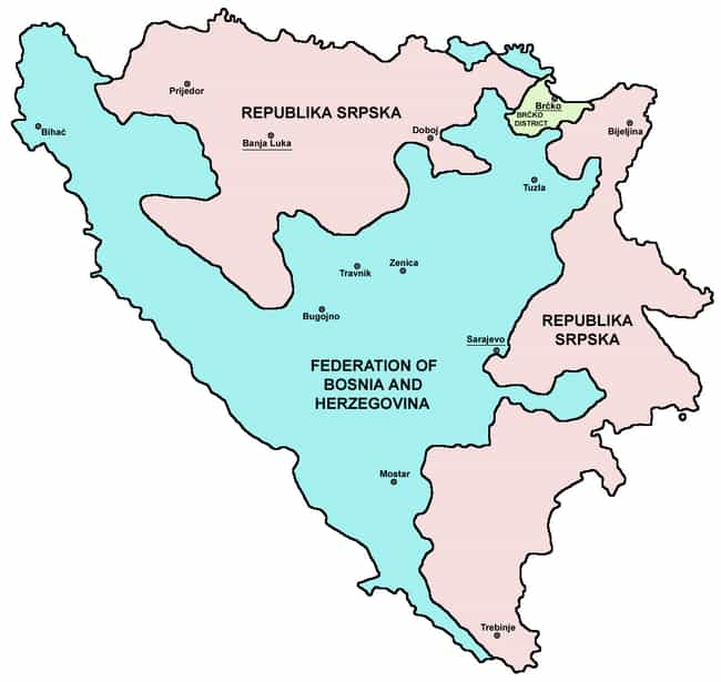 Bosnia and Herzegovina ... is listed (or ranked) 4 on the list The Most Bizarre Governments In History, Ranked