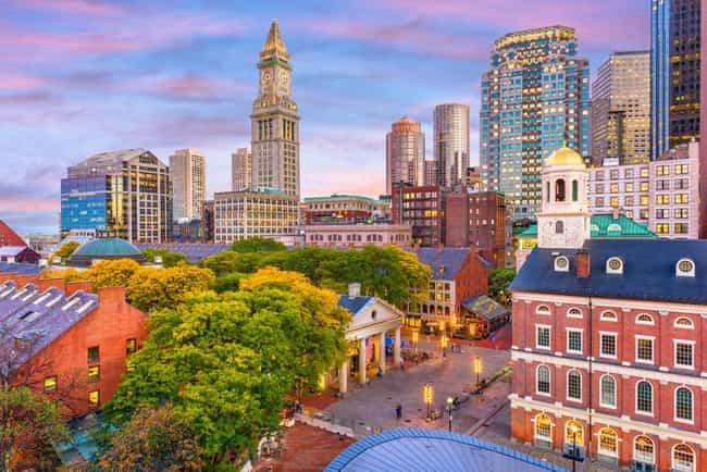 Boston is listed (or ranked) 4 on the list The Best Cities for Young Couples