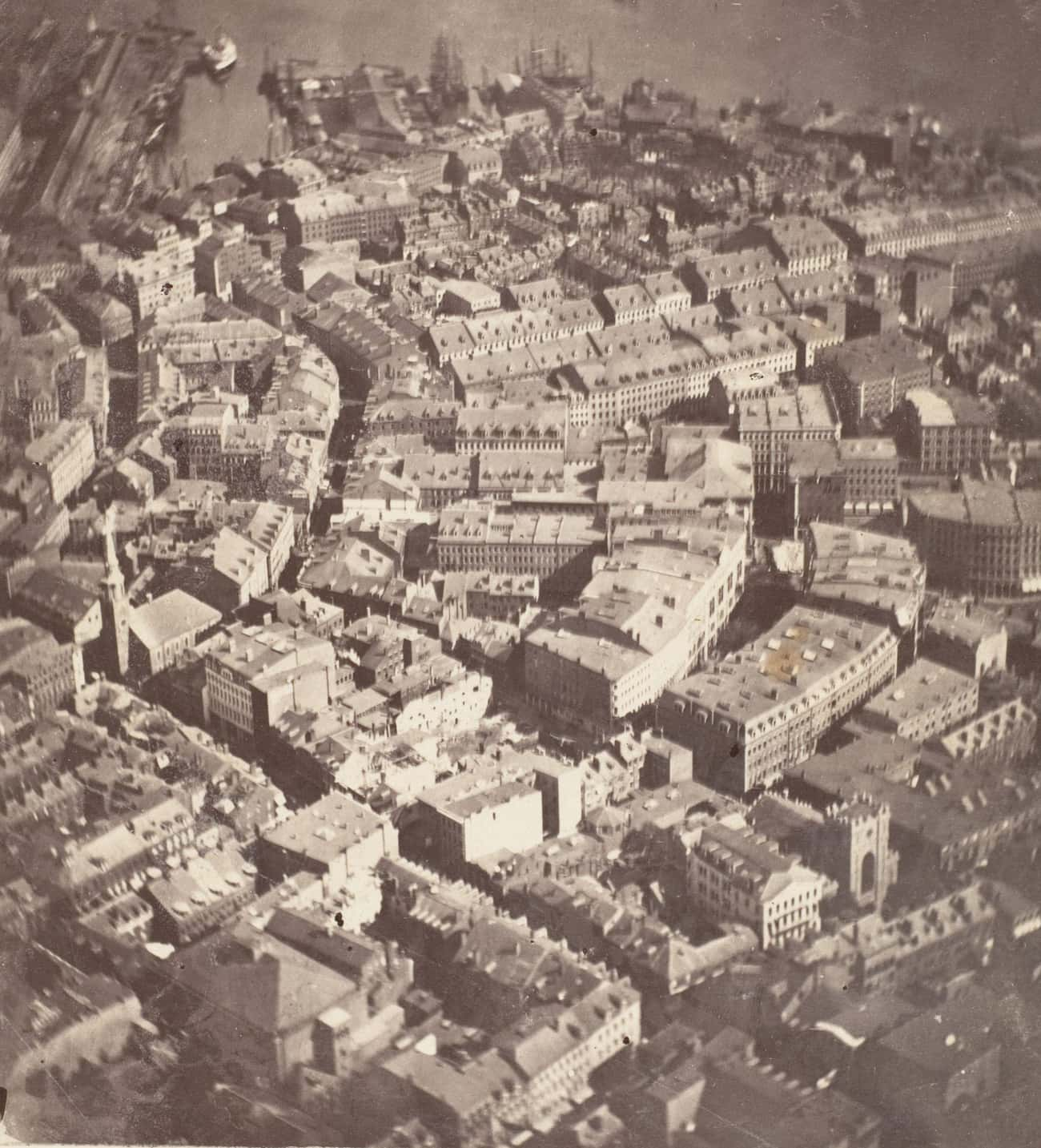 Boston, 1860 is listed (or ranked) 1 on the list Stunning Aerial Photography of Early Cities Like You've Never Seen Them Before
