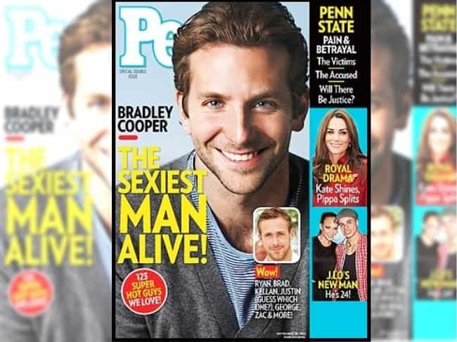 Bradley Cooper is listed (or ranked) 8 on the list Every Cover of People's Sexiest Man Alive Issue, Ever