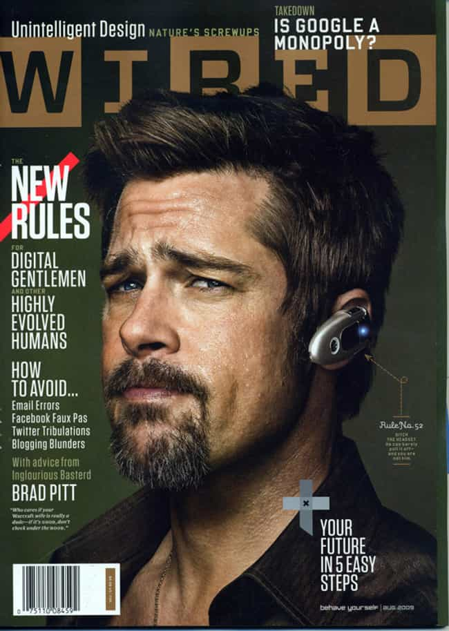Brad Pitt is listed (or ranked) 4 on the list The Best Wired Covers