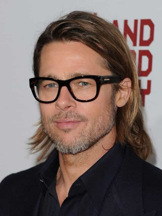 Brad Pitt is listed (or ranked) 7 on the list 35 Celebrities with Glasses