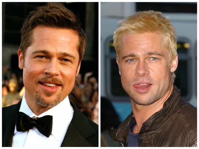 Brad Pitt is listed (or ranked) 2 on the list Celebrities Who Dyed Their Hair Blonde