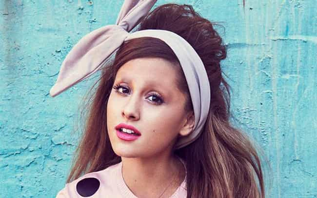 Ariana Grande is listed (or ranked) 4 on the list 22 Hilarious Pictures of Actors with No Eyebrows