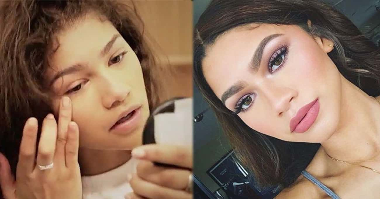 Zendaya's Amazing Makeup L is listed (or ranked) 1 on the list These Celebs Do Their Own Makeup And Here Are Some Of Their Go-To Beauty Tips
