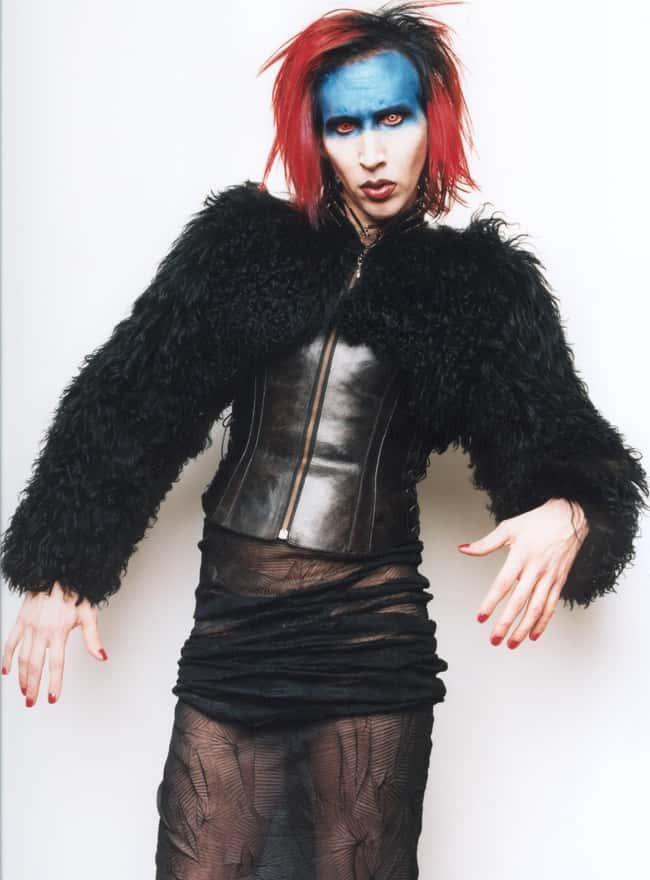 Marilyn Manson está en la lista (u clasificada) 8 en la lista Rumores de la Estrella del Rock que nunca fueron verdaderos