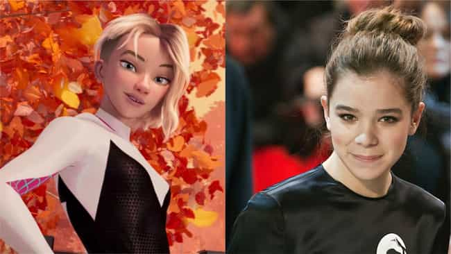 Hailee Steinfeld is listed (or ranked) 3 on the list Here's Where You've Heard Everyone In 'Into The Spider-Verse' Before