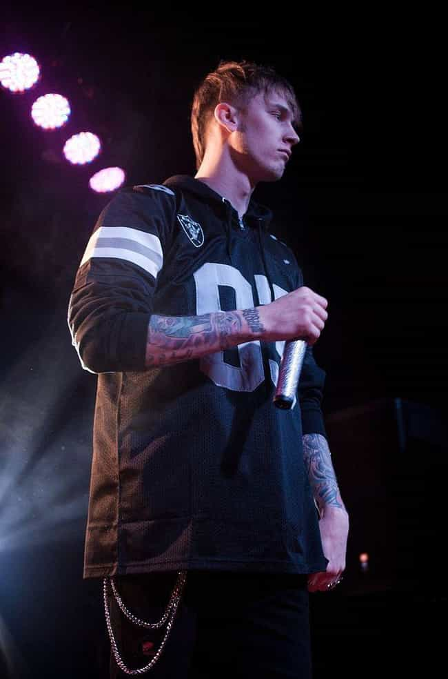 Machine Gun Kelly is listed (or ranked) 2 on the list All The People Eminem Calls Out On His New Album, 'Kamikaze'