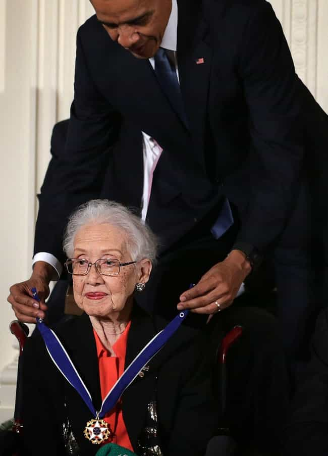 Katherine Johnson is listed (or ranked) 4 on the list 20 Amazing Women in STEM Fields