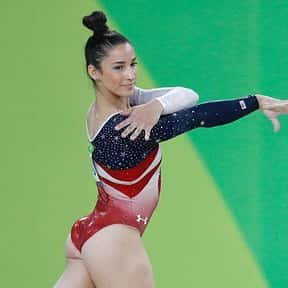 Aly Raisman is listed (or ranked) 6 on the list Famous Female Gymnasts