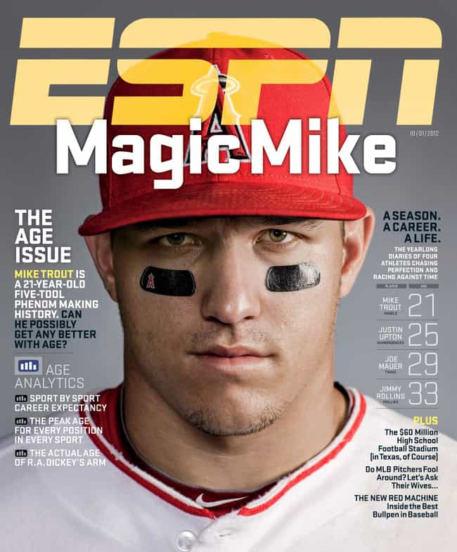 Mike Trout is listed (or ranked) 2 on the list The Best ESPN Magazine Covers