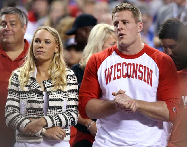 J. J. Watt is listed (or ranked) 2 on the list Caroline Wozniacki Loves and Hookups