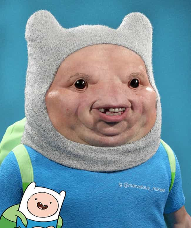 Adventure Time is listed (or ranked) 2 on the list Miguel Vasquez Creates Realistic Depictions Of Your Favorite Cartoons And They're Upsettingly Good