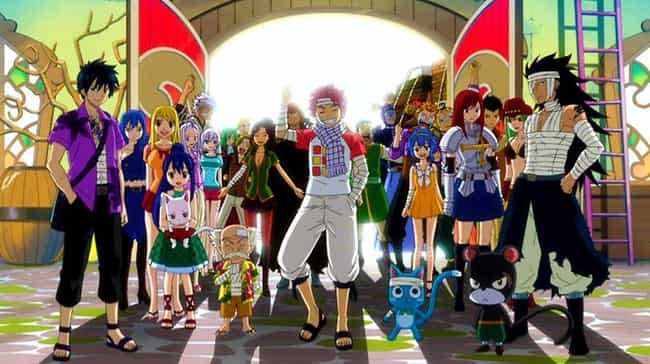 Fairy Tail is listed (or ranked) 5 on the list 14 Awesome Anime That Feature Important Time Skips