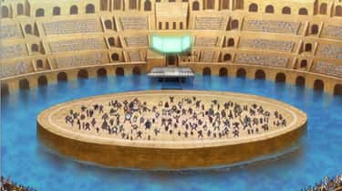 The Corrida Colosseum in One Piece Features Fierce Battle Royal Action