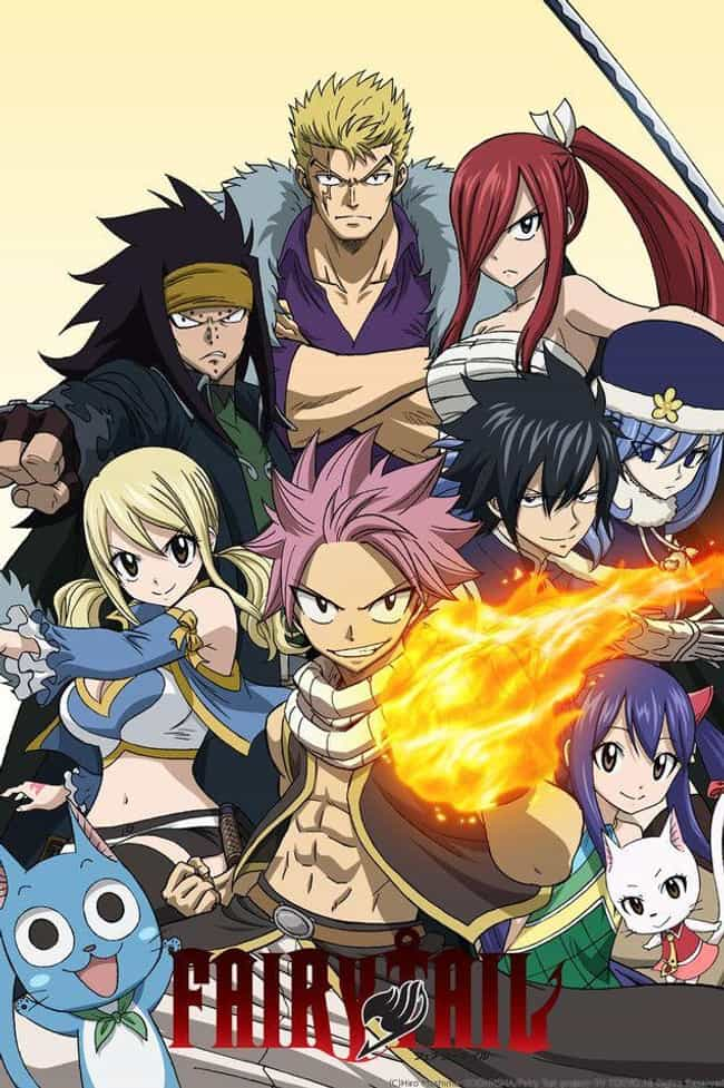 Fairy Tail is listed (or ranked) 4 on the list 19 Anime That Almost Everyone Starts With