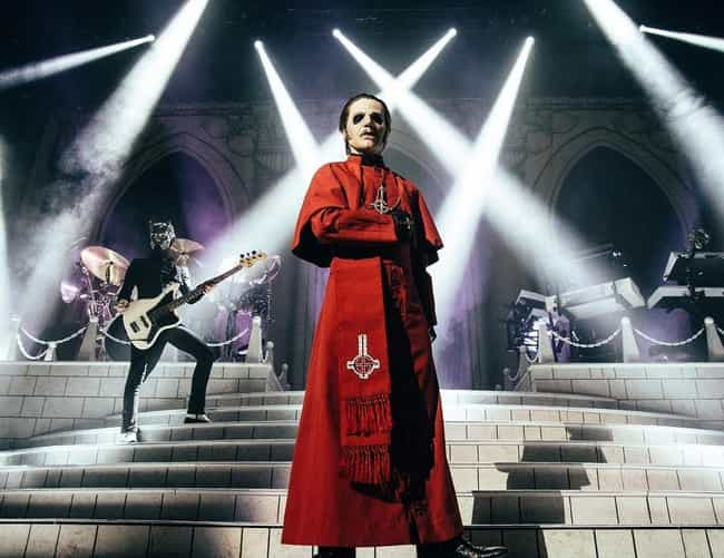 Ghost is listed (or ranked) 3 on the list Bands Whose Whole Thing Is Hell