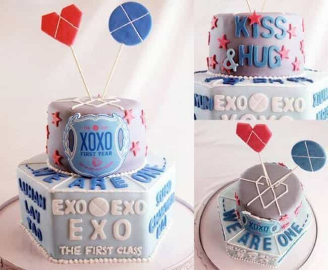 EXO is listed (or ranked) 2 on the list Cakes Kpop Idols Received from Their Fans